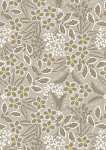 Christmas Patchwork Fabric - Noel - Winter Floral Natural