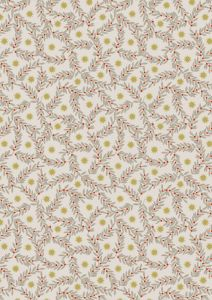 Christmas Patchwork Fabric - Noel - Star Berry Natural