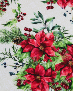 Christmas Fabric - Poinsettia Winter - Poinsettia Bouquet