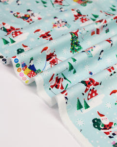 Christmas Patchwork Fabric - Santa Sports