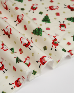 Christmas Patchwork Fabric - Scatter Santa