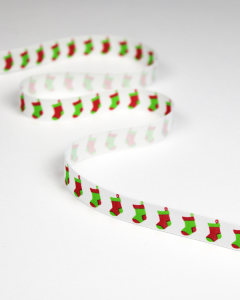 Christmas Ribbon - Stockings - 15mm