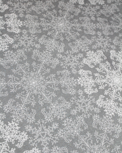 Christmas Teflon Tablecloth Fabric - Snowflake Sparkle