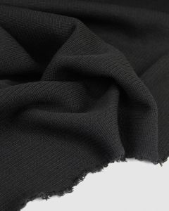 Chunky Rib Knit Fabric - Black
