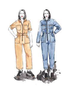Closet Core - Paper Sewing Pattern - Blanca Flightsuit