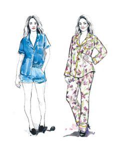 Closet Core - Paper Sewing Pattern - Carolyn Pyjamas