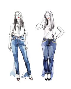 Closet Core - Paper Sewing Pattern - Ginger Skinny Jeans