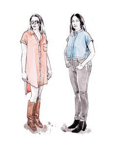 Closet Core Kalle Shirt & Shirtdress paper pattern cover (illustration)