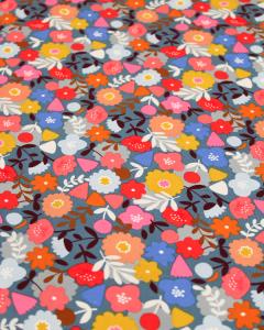 Cotton Babycord Fabric - Meadow Safari - Bloom