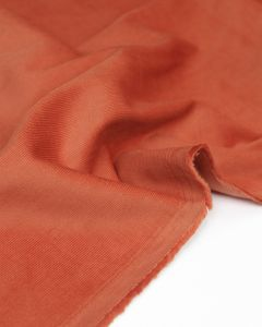 Cotton Babycord Fabric - Persimmon