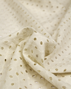 Cotton Broderie Anglaise Fabric - Chantilly