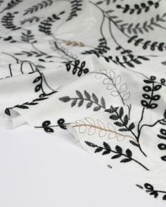 Cotton Broderie Anglaise Fabric - Falling Fern