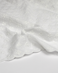 Cotton Broderie Anglaise Fabric - Rosebud