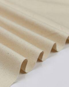 Pure Cotton Canvas Fabric -  Natural