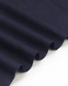 Pure Cotton Canvas Fabric - Navy