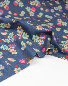 Cotton Chambray Fabric - Aster