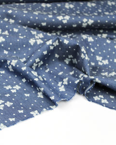 Cotton Chambray Fabric - Butterfly Sky