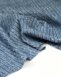 Cotton Chambray Fabric - Dot Dot Dash