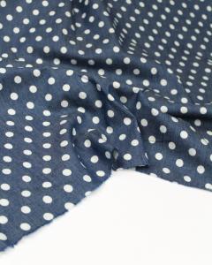 Cotton Chambray Fabric - Polka Dot