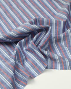Cotton Chambray Stripe Fabric - Henley