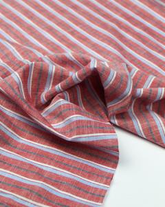 Cotton Chambray Stripe Fabric - Marlow