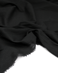 Cotton Cheesecloth Fabric - Black