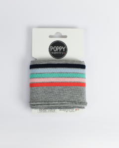 Cotton Cuffing - Candy Stripe Grey