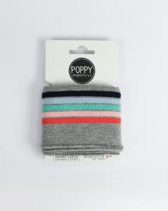 Cotton Cuffing - Candy Stripe Grey