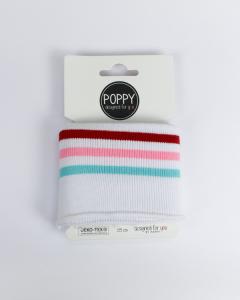 Cotton Cuffing - Candy Stripe White