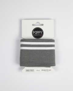 Cotton Cuffing - Double Stripe Grey
