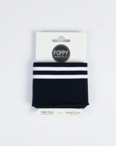 Cotton Cuffing - Double Stripe Navy