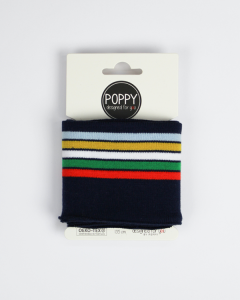 Cotton Cuffing - Retro Stripe Navy