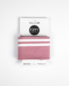 Cotton Cuffing - Double Stripe Rose