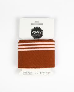 Cotton Cuffing - Triple Stripe Ginger/Powder Pink