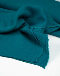 Cotton Double Gauze Fabric - Kingfisher