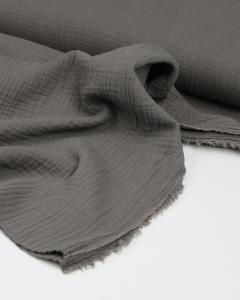 Cotton Double Gauze Fabric - Mercury