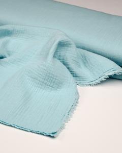 Cotton Double Gauze Fabric - Sky