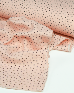 Cotton Double Gauze Fabric - Sprinkle Spot Pink