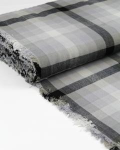Cotton Fabric - Alison Glass - Kaleidoscope Plaid Charcoal