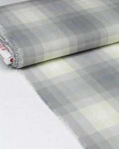 Cotton Fabric - Alison Glass - Kaleidoscope Plaid Cloud