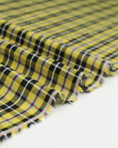 Cornish Tartan Cotton Fabric - Small Check National