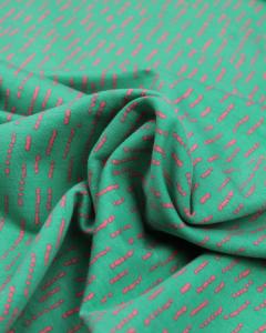 Cotton French Terry Fabric - Dashi Stripe Green