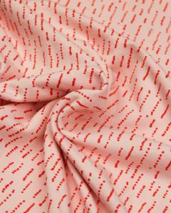 Cotton French Terry Fabric - Dashi Stripe Pink