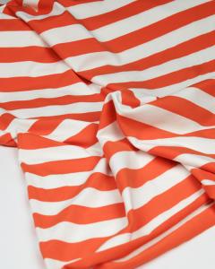 Cotton Jersey Fabric - Chunky Stripe Orange