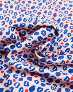 Cotton Jersey Fabric - Fierce Leopard Pink