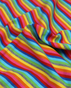 Cotton Jersey Fabric - Rainbow Stripe