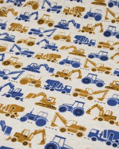 Cotton Jersey Fabric - Roadworks