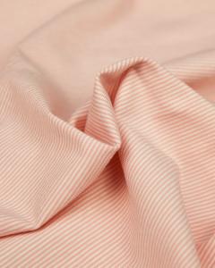 Cotton Jersey Fabric - Skinny Stripe Blush