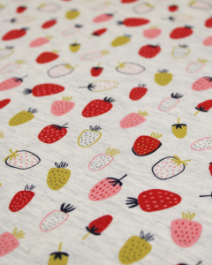 Cotton Jersey Fabric - Strawberry Sundae