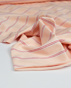 Cotton Jersey Fabric - Triple Stripe Mallow